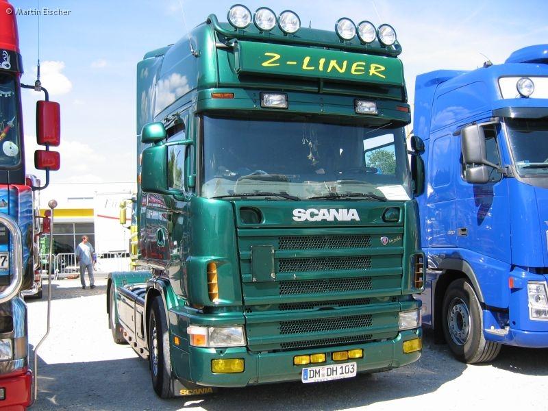Trucktreffen forchheim 2006 teil 1 scania 4er z liner Liner 4 50 x 1 20
